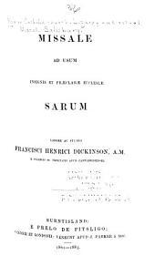 Missale ad usum insignis et praeclarae eccleslae Sarum