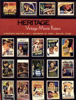 Heritage Galleries and Auctioneers Vintage Movie Poster Auction  607 PDF