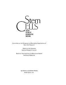 Stem Cells and the Future of Regenerative Medicine