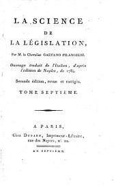 La science de la législation: Volume7