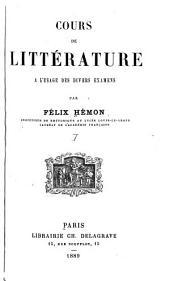 Cours de littérature à l'usage des divers examens: Parties1à4