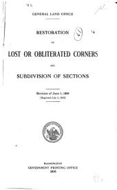 Restoration of lost or obliterated corners and subdivision of sections