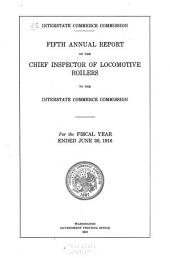 Annual Report of the Director of Locomotive Inspection