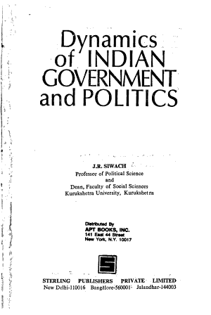 Dynamics of Indian Government and Politics