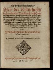 ¬Ein tröstliche Leychpredig, Bey der Christlichen und volckreichen Begräbnuß deß Edlen unnd frommen Jünglings, weyland Hansen Wilhelms von Guttenberg ...