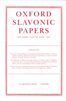 Oxford Slavonic Papers PDF