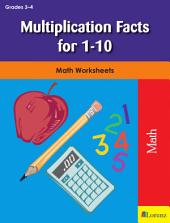 Multiplication Facts for 1-10: Math Worksheets