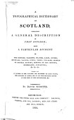 A Topographical Dictionary Of Scotland And An Elegant Sheet Map