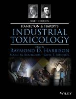 Hamilton and Hardy s Industrial Toxicology PDF