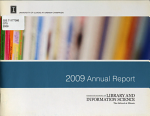 Graduate School of Library and Information Science     Annual Report PDF