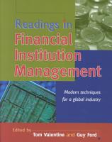 Readings in Financial Institution Management PDF