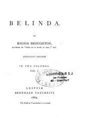 Belinda: A Novel, Volume 1