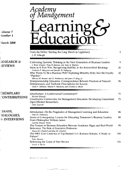 Academy of Management Learning   Education PDF