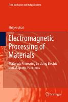 Electromagnetic Processing of Materials PDF
