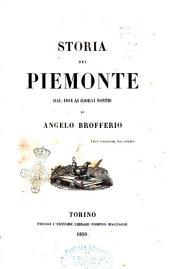 Storia del Piemonte dal 1814 ai giorni nostri: Volume 3