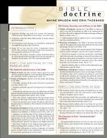 Bible Doctrine Laminated Sheet PDF