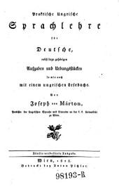 Praktische ungrische Sprachlehre für Deutsche, nebst dazu gehörigen Aufgaben ... 5. verb. Ausg