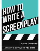 How to Write a Screenplay PDF