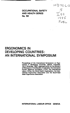 Ergonomics in Developing Countries