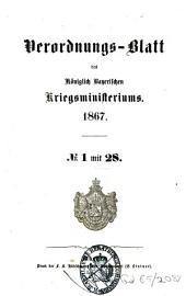 Verordnungs-Blatt: 1867
