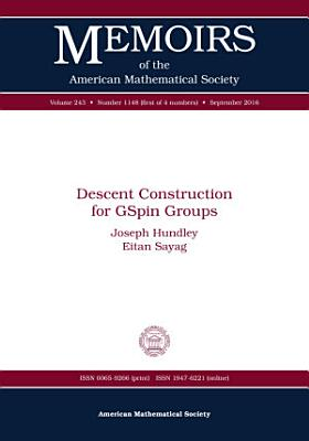 Descent Construction for GSpin Groups