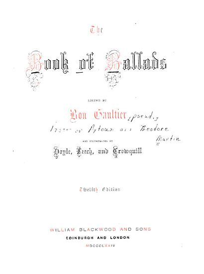 The Book of Ballads PDF