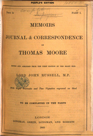 Memoirs  Journal and Correspondence  Edited and abridged from the first edition by     Lord John Russell PDF