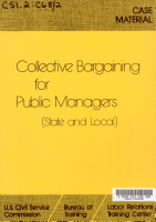 Collective Bargaining for Public Managers  state and Local   PDF