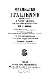 Grammaire italienne: simplifiée et réduite à 20 leçons, avec des thèmes, des dialogues