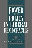 Power and Policy in Liberal Democracies PDF