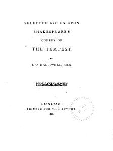 Selected Notes Upon Shakespeare s Comedy of the Tempest PDF