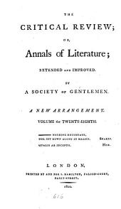 The Critical Review: Or, Annals of Literature: Volume 28