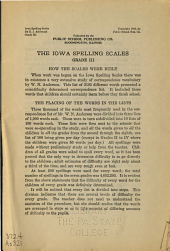 The Iowa spelling scales: ... Grade II-VIII ...
