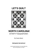 Let's Quilt North Carolina and Stuff It Topographically!