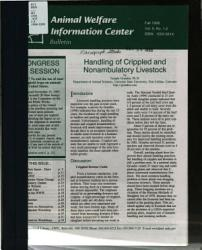 Animal Welfare Information Center Bulletin PDF