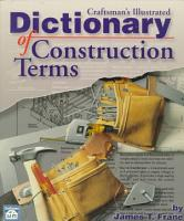 Craftsman s Illustrated Dictionary of Construction Terms PDF