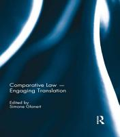 Comparative Law   Engaging Translation PDF