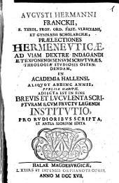 Praelectiones Hermeneuticae