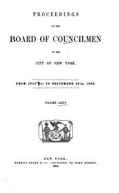 Proceedings of the Board of Councilmen of the City of New York: Volume 75