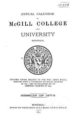 Calendar   McGill University PDF