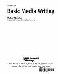 Basic Media Writing PDF