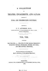 A Collection of Treaties, Engagements, and Sanads Relating to India and Neighbouring Countries: Volume 8