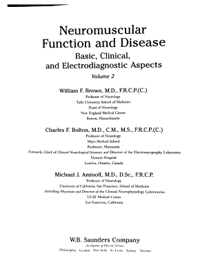 Neuromuscular Function and Disease
