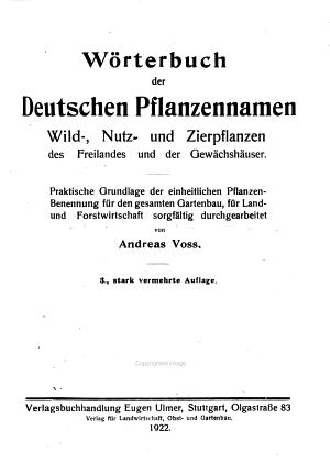 W  rterbuch der deutschen pflanzennamen  wild  nutz  und zierpflanzen des freilandes und der gew  chsh  user PDF