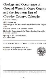 Geological Survey Water-supply Paper: Issue 1799