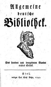 Allgemeine deutsche Bibliothek: Band 113