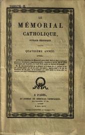 Le Memorial catholique, ouvrage periodique: Volume4;Volume7
