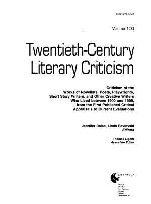 Twentieth century Literary Criticism PDF