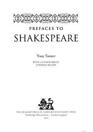 Prefaces to Shakespeare PDF