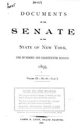 Documents of the Senate of the State of New York: Issue 63, Part 1